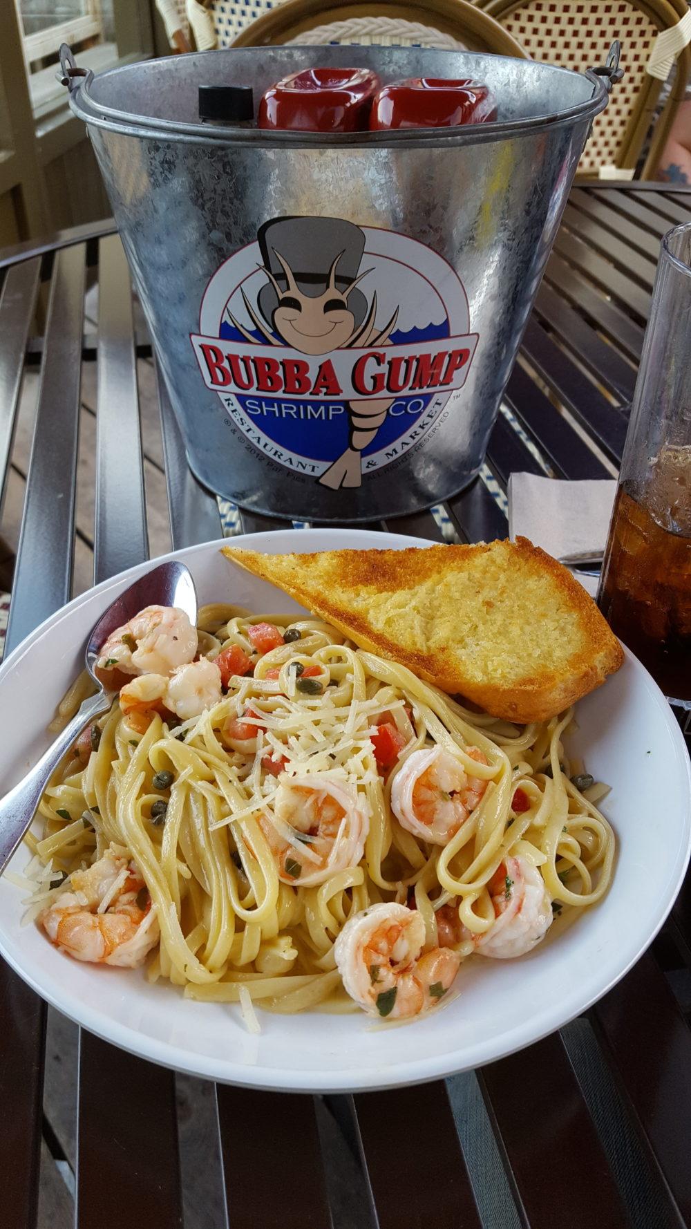 Spaghetti mit Scampis bei Bubba Gump